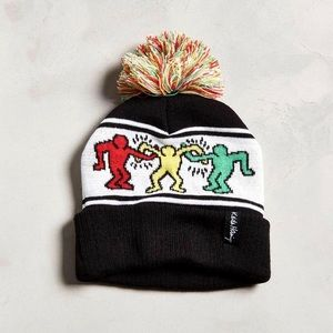 Urban Outfitters x Keith Haring Pompom Beanie Hat